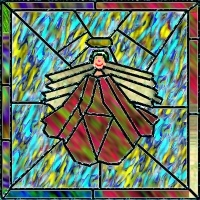 AmeriYank's stained glass angel